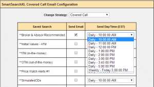setup search results by email